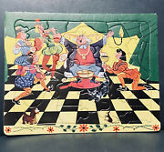 Vintage 32 Piece Built-rite Sta-n-place Puzzle The King And Court Musicians