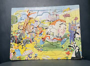 Vintage Sta-n-place Built Rite Puzzle Humpty Dumpty And Other Classics 32 Pieces