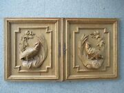 Large Pair Of Antique Hand Carved Cabinet Doors Made Around 1880.
