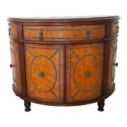 Drexel Heritage Demi Lune Console Cabinet With Tasks Half Moon Table