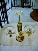 Antique Solid Brass Student Double Lamp With Adjustment