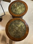"""Apair Hooker Furniture 28""""x17"""" Round Accent Table From The Seven Seas Collection"""