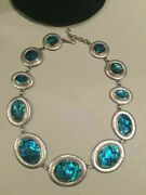 Auth Gurhan Made In Turkey St Silver 18.5 24k Gold And Paua Shell Necklace Nwt