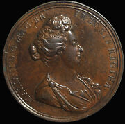 England 1690 Queen Mary Ae Medal Eimer.320 By Rottiers