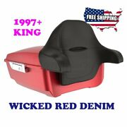 Advanblack Wicked Red Denim King Tour Pack Pak Fit 1997-2020 Harley Touring