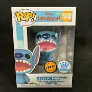 Funko Pop Stitch With Record Player Chase Funkoshop Exclusive Open Mouth Disney