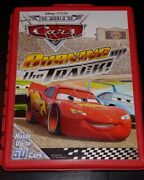 Disney Cars Burning Up The Track Car Holder Carry Carrying Case Red With 52 Cars