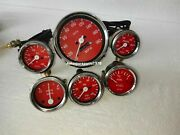 Smiths Kit 52mm Temp+oil Temp+ Oil Psi+fuel+amp+ Speedometer 100 Mm Red