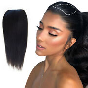 Remeehi Long Straight Remy Human Hair Bangs Side Fringe Clips In Hair Extension