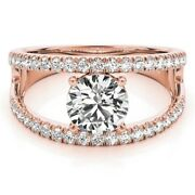 Genuine Diamond Wedding Ring For Women 0.90 Ct Solid 14k Rose Gold Size 5 6 7 8