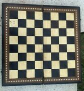 Rare Antique Collectible Foldable Hand Crafted Bone Fitted Wooden Chess Board
