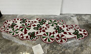 New 36 Peppermint Candy Cane Christmas Table Runner Valerie Parr Hill Sold Out