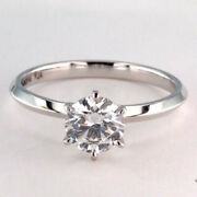 0.50 Ct Real Diamond New Design Wedding Ring 14k Solid White Gold 5.5 6 7 4.5