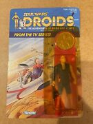 Vintage Carded 1985 Star Wars Droids Carded - Thall Joben Figure - Unpunched