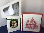 Department 56 Christmas North Pole Gingerbread Cake Donut Shop Lot 3 W/ Box T
