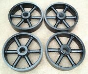 Antique Hit And Miss Gas Engine Cast Iron Cart Wheel Set 11 X 2.75 Heavy Duty
