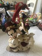 Disney Ornament Victorian Mickey Mouse And Minnie Rare Kissing Variant Christmas