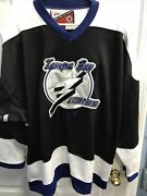 Pro Player Eastern Conference Nhl Tampa Bay Lighting Mens Jersey Preowned Sz 2xx