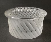"""Lalique France Frosted Glass """"smyrne"""" Swirl Optic Ashtray 4 Diameter - Signed"""