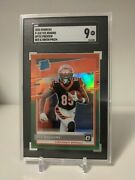 Tee Higgins 2020 Donruss Optic Preview Red And Green Prizm Graded Sgc 9