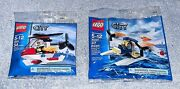 Lego City Fire Helicopter 4900 And Coast Guard Seaplane 30225 Polybag Lot Mint