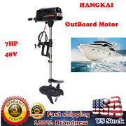 Hangkai 7hp Outboard Motor 48v Brushless Electric Outboard Motor Engine For Boat