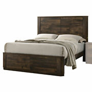 Acme Elettra Queen Bed With Antique Walnut Finish 24850q