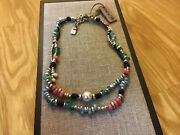 """Nwt Uno De 50 Colorful Murano Glass Beads/pearl Necklace """"ocean Pearl"""""""