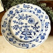 Blue Danube Blue And White Onion Pattern 15.5 Round Heavy Serving Platter 15 1/2