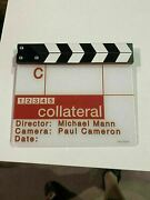 Collateral 2004 Movie Clapperboard Tom Cruise, Michael Mann And Jamie Foxx