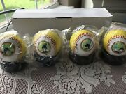 The Beatles Yellow Submarine Baseball Set 1999 All 4 On Stands New In Box Fab