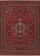 Couristan Kashimar 9and03910 X 14and0391 Rectangle Area Rugs In Antique Red