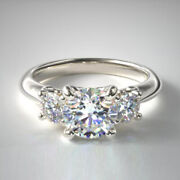 0.90 Ct Real Diamond Beautiful Wedding Ring Solid 14k White Gold Size 7 6 5 4.5