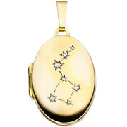 Medallion Oval For 2 Photos From 333 Yellow Gold 4 Zirconia Pendant