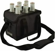 Picnic At Ascot Insulated 6-bottle Beer Caddy W/ Bottle Opener