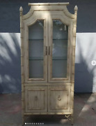 Vintage Thomasville Allegro Faux Bamboo China Cabinet