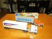 Vintage Road Champs Fed Ex And Roadway Trucking Semi's With Original Box