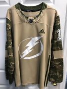 Adidas Nhl Tampa Bay Lighting Camo Mens Jersey 1 Preowned Excellent Co Sz 56