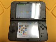 Nintendo New 3ds Xl Metallic Black Handheld System 32 Gb Extra Memory And Case