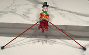 Vintage Feco Circus Clown On Unicycle Tight Rope Walker Made In West Germany