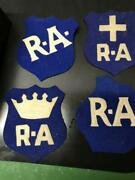 Vintage Canadian Royal Air Force Patches With Crown And Cross Set Of Three Wwii