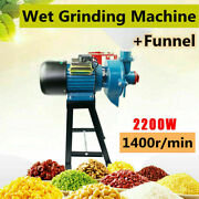 110v 2200w Electric Grinder Wet Feed/flour Mill Cereals Grain Corn Wheat+funnel