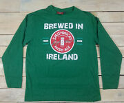 New Official Smithwicks Irish Ale Graphic Long Sleeve Green T-shirt Fits M