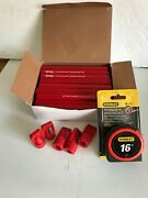 72 Lot Of 2 Leaded Carpenter Pencils 16and039 Stanley Tape And 5 Pencil Sharpener