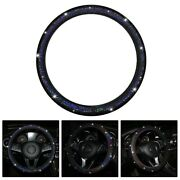Pu Leather Steering Wheel Cover Protector 37-38cm Anti-slip Breathable