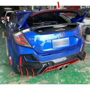 Red Carbon Fit For Honda Civic 10th Fk8 Rear Central Spoiler High Kicks 2020