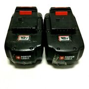 Lot Of 2 Porter Cable Batteries 18v Battery Pc18b 3.6ah Ni-mh Battery