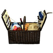 Picnic At Ascot Full Reed Willow Traditional Surrey Picnic Basket For 2 713