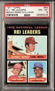 1971 Topps 64 Johnny Bench, Tony Perez And Billy Williams Psa 8 Nm-mt Rbi Leaders