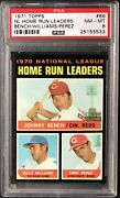 1971 Topps 66 Johnny Bench, Billy Williams And Tony Perez Psa 8 Nm-mt Hr Leaders